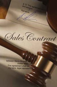 Sales contract and gavel
